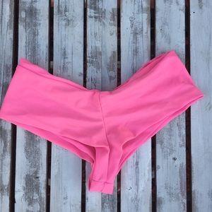 Pink LOLLI Seamless Bikini Short Bottoms